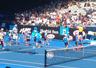 【全豪オープン4日目①】第1試合前はコート上でキッズテニス! のイメージ