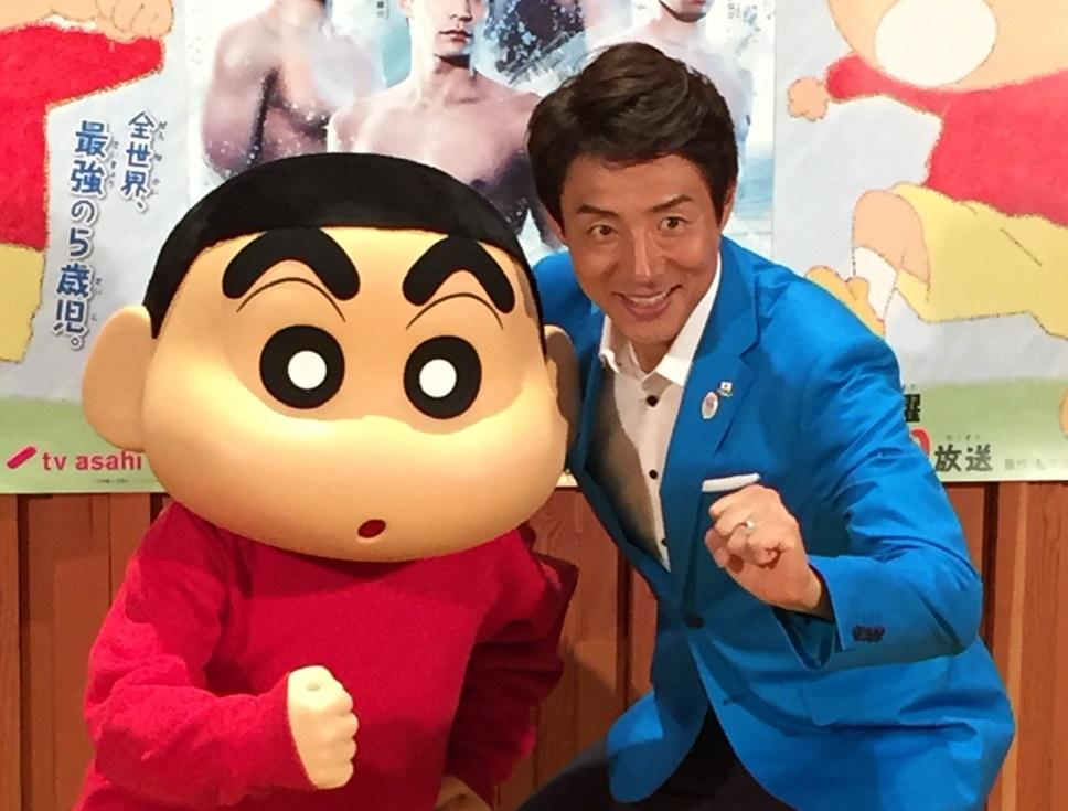 テレビ朝日『クレヨンしんちゃん』に水泳コーチとして登場! のイメージ