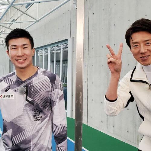 男子陸上 桐生祥秀選手と2ピース