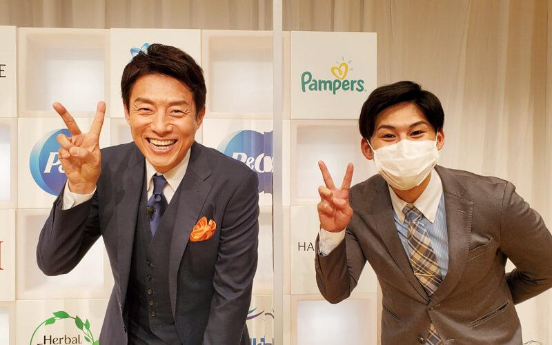 TBS 齋藤 慎太郎アナウンサーと2ピース