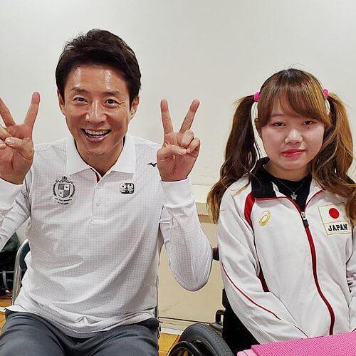パラ射撃水田光夏選手と2ピース
