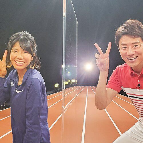 女子陸上 新谷仁美選手と松岡修造2ピース